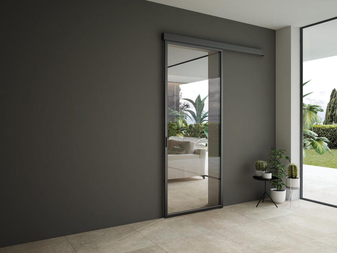 Porte Scorrevoli Stile Industriale perché arredare casa con le porte scorrevoli vetro alluminio