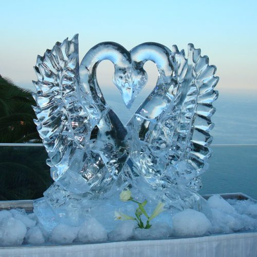 scultura di ghiaccio